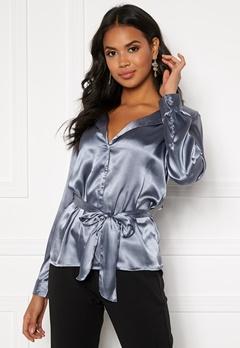 Make Way Meya blouse Grey-blue Bubbleroom.dk