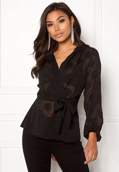 Make Way Parthenia blouse Black Bubbleroom.dk