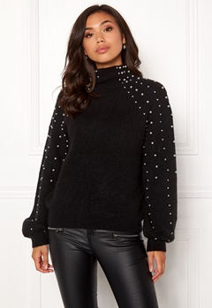 Make Way Pearlie knitted sweater Black Bubbleroom.dk