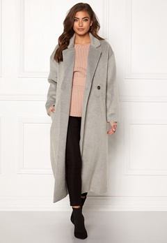 Make Way Ruth long coat Light grey Bubbleroom.dk