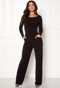 Make Way Sage Jumpsuit Black Bubbleroom.dk