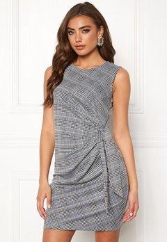 Make Way Sheila dress Grey / Checked / Blue Bubbleroom.dk