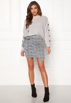 Make Way Sherida skirt Grey / Checked / Blue Bubbleroom.dk