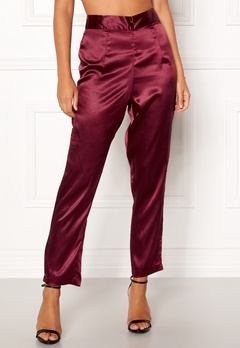 Make Way Tomika trousers Wine-red Bubbleroom.dk