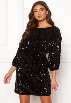 Make Way Lettina sequin dress Black Bubbleroom.dk