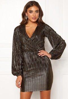 Make Way Ygritte wrap dress Black / Gold Bubbleroom.dk