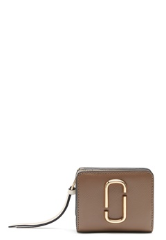The Marc Jacobs Mini Compact Wallet 064 French Grey Mult Bubbleroom.dk