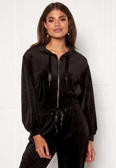 Martine Lunde X Bubbleroom Cozy velvet hoodie Black Bubbleroom.dk