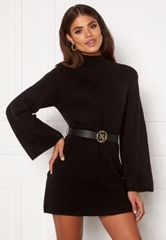 Martine Lunde X Bubbleroom Wide sleeve knitted dress Black Bubbleroom.dk