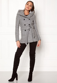 ONLY mary lisa short wool coat Light Grey Melange Bubbleroom.dk