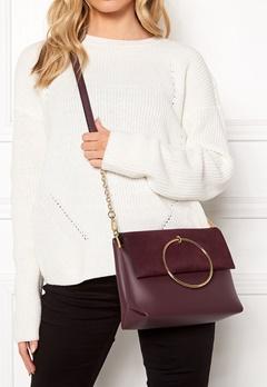 New Look Matilda Metal Handle Bag Dark Burgundy Bubbleroom.dk