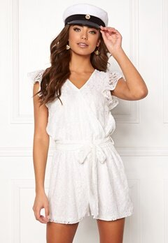 DRY LAKE Megan Playsuit White Lace Bubbleroom.dk