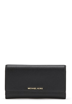 Michael Michael Kors Large 3 Folder Wallet 001 Black Bubbleroom.dk
