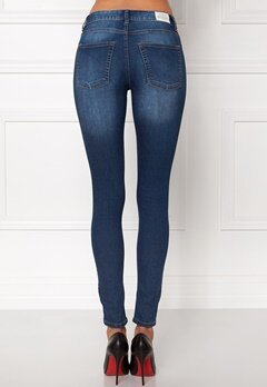 CHEAP MONDAY Mid Spray Jeans Dark Blue Bubbleroom.dk
