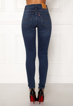 LEVI'S Milehigh Superskinny Jeans Breakthrough Blue Bubbleroom.dk