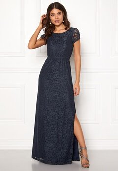 DRY LAKE Mira Long Dress 400 Blue Bubbleroom.dk