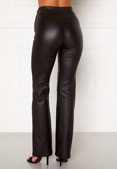 Moa Mattsson X Bubbleroom Coated flared trousers Black Bubbleroom.dk