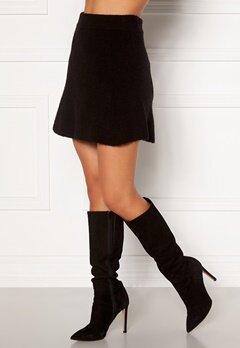 Moa Mattsson X Bubbleroom Knitted short skirt Black Bubbleroom.dk