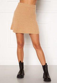 Moa Mattsson X Bubbleroom Knitted short skirt Camel Bubbleroom.dk