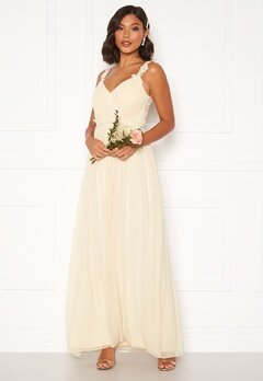 Moments New York Afrodite Chiffon Gown Champagne Bubbleroom.dk