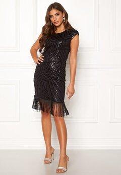 Moments New York Aida Beaded Dress Black Bubbleroom.dk