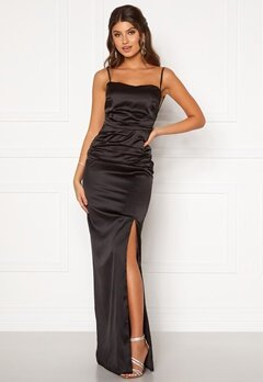 Moments New York Alda Strap Gown Black Bubbleroom.dk