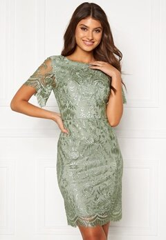Moments New York Alexandra Beaded Dress Light green Bubbleroom.dk
