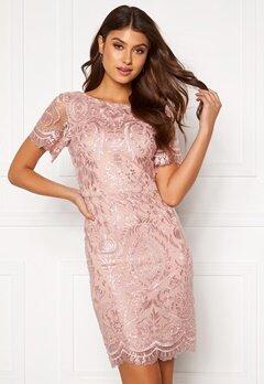 Moments New York Alexandra Beaded Dress Pink Bubbleroom.dk