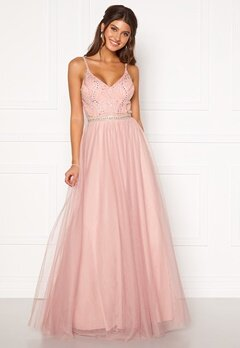 Moments New York Anessa Sparkle Gown Light pink Bubbleroom.dk