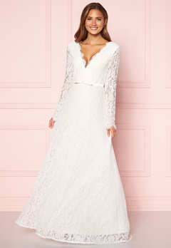 Moments New York Antoinette Wedding Gown White Bubbleroom.dk