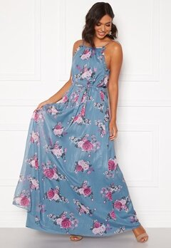 Moments New York Aster Chiffon Gown Floral Bubbleroom.dk