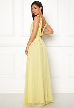 Moments New York Aster Chiffon Gown Light yellow Bubbleroom.dk