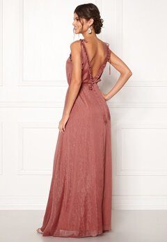 Moments New York Aster Chiffon Gown Old rose Bubbleroom.dk