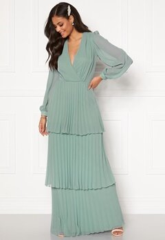 Moments New York Astrid Frill Gown Grey-blue Bubbleroom.dk