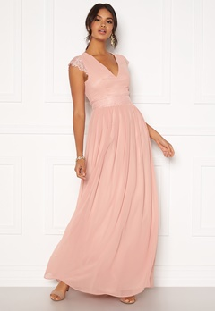 Moments New York Athena Chiffon Gown Dusty pink Bubbleroom.dk