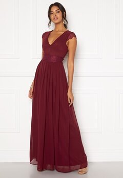 Moments New York Athena Chiffon Gown Wine-red Bubbleroom.dk
