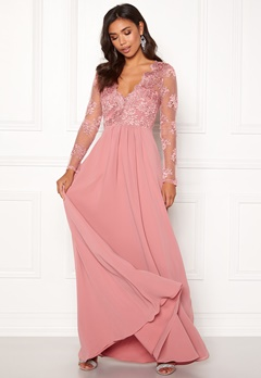 Moments New York Azalea Lace Gown Dusty pink Bubbleroom.dk