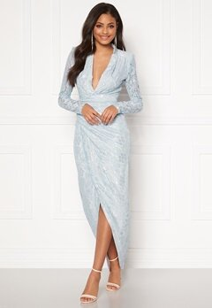 Moments New York Becca Lace Gown Light blue Bubbleroom.dk