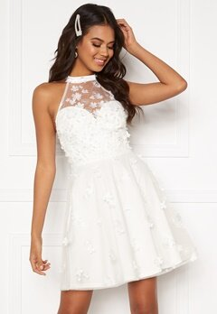 Moments New York Bianca Skater Dress White Bubbleroom.dk