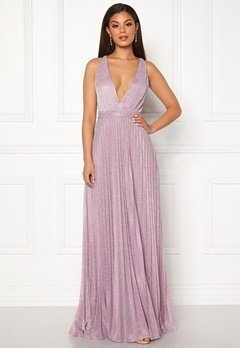 Moments New York Bryony Lurex Gown Light pink / Silver Bubbleroom.dk
