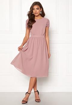Moments New York Camellia Chiffon Dress Dark old rose Bubbleroom.dk