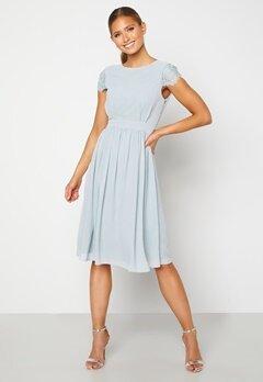Moments New York Camellia Chiffon Dress Grey-blue Bubbleroom.dk