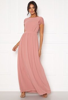 Moments New York Camellia Chiffon Gown Dark old rose Bubbleroom.dk