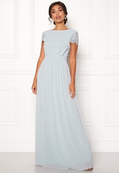 Moments New York Camellia Chiffon Gown Blue-grey Bubbleroom.dk