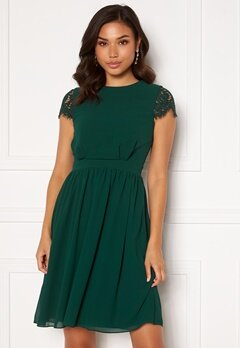Moments New York Camellia Lace Dress Dark green Bubbleroom.dk