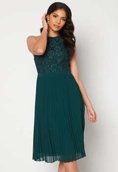Moments New York Casia Pleated Dress Green bubbleroom.dk