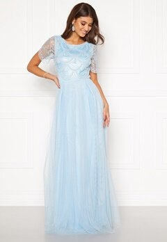 Moments New York Cornelia Beaded Gown Blue Bubbleroom.dk