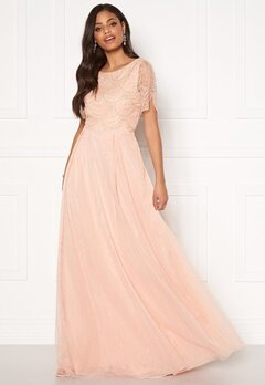 Moments New York Cornelia Beaded Gown Pink Bubbleroom.dk