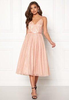 Moments New York Daphne Mesh Dress Dusty pink Bubbleroom.dk