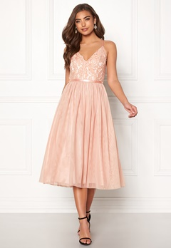 Moments New York Daphne Mesh Dress Dusty pink Bubbleroom.dk